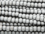 Silver Irregular Round Wood Beads 5mm (WD933)