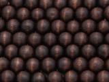 Dark Brown Round Wood Beads 10mm (WD937)