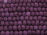 Purple Rondelle Lava Rock Beads 8mm (LAV138)