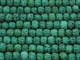 Green Rondelle Lava Rock Beads 8mm (LAV140)