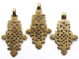 Brass Coptic Cross Pendant - 58-62mm (CCP632)