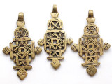 Brass Coptic Cross Pendant - 65-67mm (CCP634)