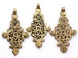 Brass Coptic Cross Pendant - 65-67mm (CCP634)