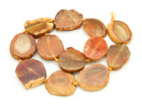 Orange Agate Slab Gemstone Beads 28-35mm (AS851)