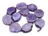 Purple Agate Slab Gemstone Beads 31-41mm (AS883)