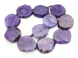 Purple Agate Slab Gemstone Beads 32-37mm (AS887)