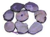 Purple Agate Slab Gemstone Beads 42-55mm (AS920)