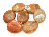 Tan Agate Slab Gemstone Beads 48-55mm (AS931)