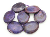 Purple Agate Slab Gemstone Beads 51-55mm (AS943)