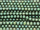 Emerald Green Irregular Round Pearl Beads 5mm (PRL190)