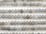 Labradorite Faceted Rondelle Gemstone Beads 6mm (GS4130)
