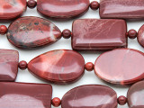 Brecciated Jasper Assorted Tabular Gemstone Beads 25mm (GS4134)