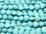 Turquoise Howlite Heart Gemstone Beads 8mm (GS4166)