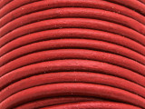 "Red Leather Cord 5mm - 36"" (LR79)"
