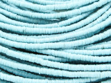 Light Blue Vinyl Disc Beads 3mm (VY228)
