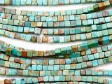 Turquoise Cube Beads 3mm (TUR1290)