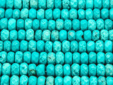 Turquoise Faceted Rondelle Beads 7-8mm (TUR1301)