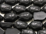 Black Magnesite Buddha Head Gemstone Beads 18mm (GS4207)