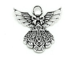 Ornate Angel - Pewter Pendant 42mm (PW893)