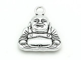 Smiling Buddha - Pewter Pendant 25mm (PW905)