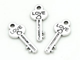 Love Key - Pewter Pendant 24mm (PW1175)