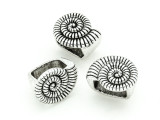 Pewter Bead - Nautilus Shell 16mm (PB802)