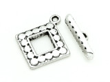 Pewter Square Toggle Clasp 28mm (PB810)