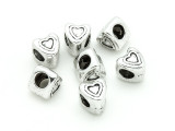 Pewter Bead - Heart Spacer 8mm (PB827)
