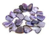 Purple Agate Slab Gemstone Beads 30-48mm (AS948)