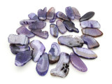 Purple Agate Slab Gemstone Beads 28-55mm (AS952)
