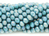 Light Blue Crystal Glass Beads 7mm (CRY255)