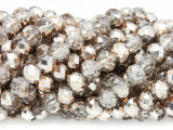 Champagne & Clear Crystal Glass Beads 8mm (CRY269)