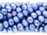 Blue Crystal Glass Beads 10mm (CRY272)