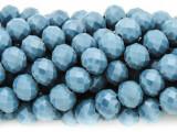 Slate Blue Crystal Glass Beads 10mm (CRY280)