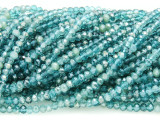 Transparent Aqua Crystal Glass Beads 3mm (CRY293)