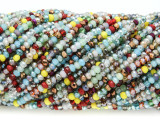 Multi-Color Crystal Glass Beads 2mm (CRY305)
