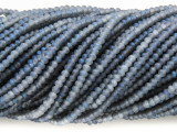 Matte Gray Blue Crystal Glass Beads 2mm (CRY307)