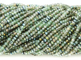 Olive & Light Green Crystal Glass Beads 2mm (CRY312)