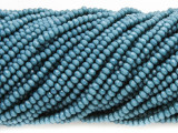 Dark Turquoise Blue Crystal Glass Beads 2mm (CRY318)