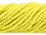 Bright Yellow Crystal Glass Beads 4mm (CRY326)