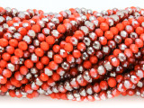 Orange & Bronze Crystal Glass Beads 4mm (CRY352)