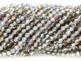 Smoky Gray Bicone Crystal Glass Beads 4mm (CRY359)