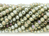 Light Olive Green Crystal Glass Beads 6mm (CRY360)