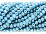 Sky Blue Crystal Glass Beads 6mm (CRY367)