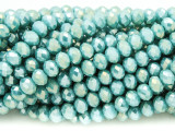 Light Turquoise Crystal Glass Beads 6mm (CRY369)