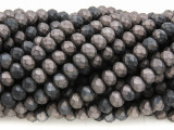 Matte Charcoal & Gunmetal Crystal Glass Beads 6mm (CRY379)