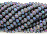 Matte Jeweltone Crystal Glass Beads 6mm (CRY380)
