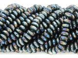 Teal Jeweltone Saucer Crystal Glass Beads 6mm (CRY394)