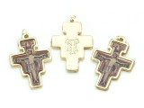 San Damiano Cross Picture Pendant - 38mm (SF17)