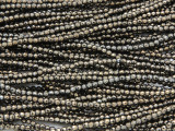 Light Bronze Hematite Faceted Round Gemstone Beads 2-3mm (GS4248)